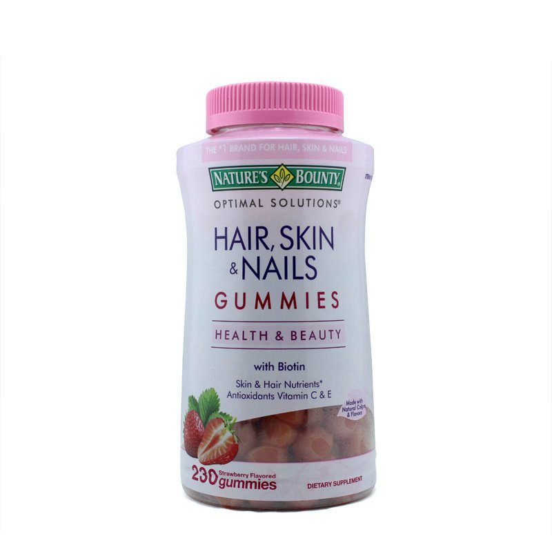 Nature\'s Bounty Hair Skin and Nails, 230 Gummies - Westwinglife.com